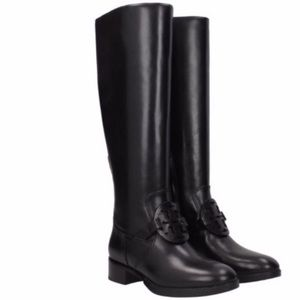 New Tory Burch Miller tall leather black boots 5.5